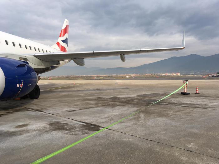 Aeroporto Vespucci un aereo parcheggiato