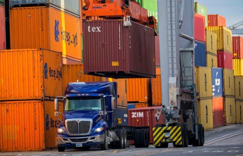 Stati Uniti autotrasporto container