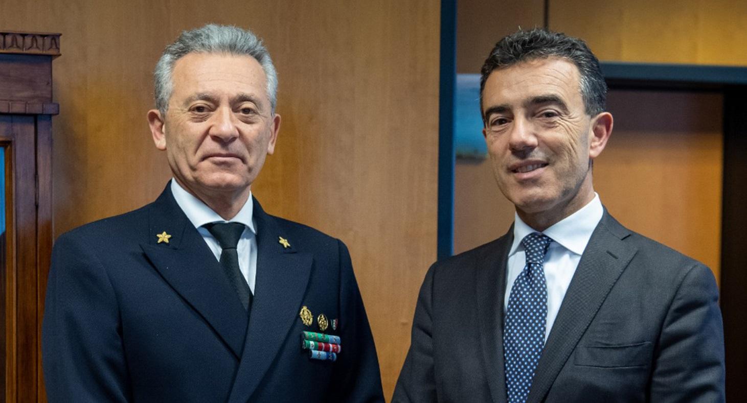 Il Comandante Generale Pettorino incontra il Presidente di Assoporti