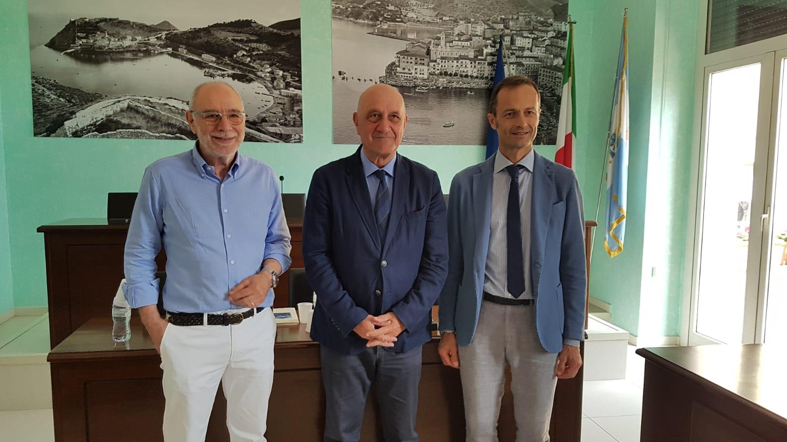 Economia del mare, rapporto CCIAA 2019, nella foto Schiano, Borghini e Breda