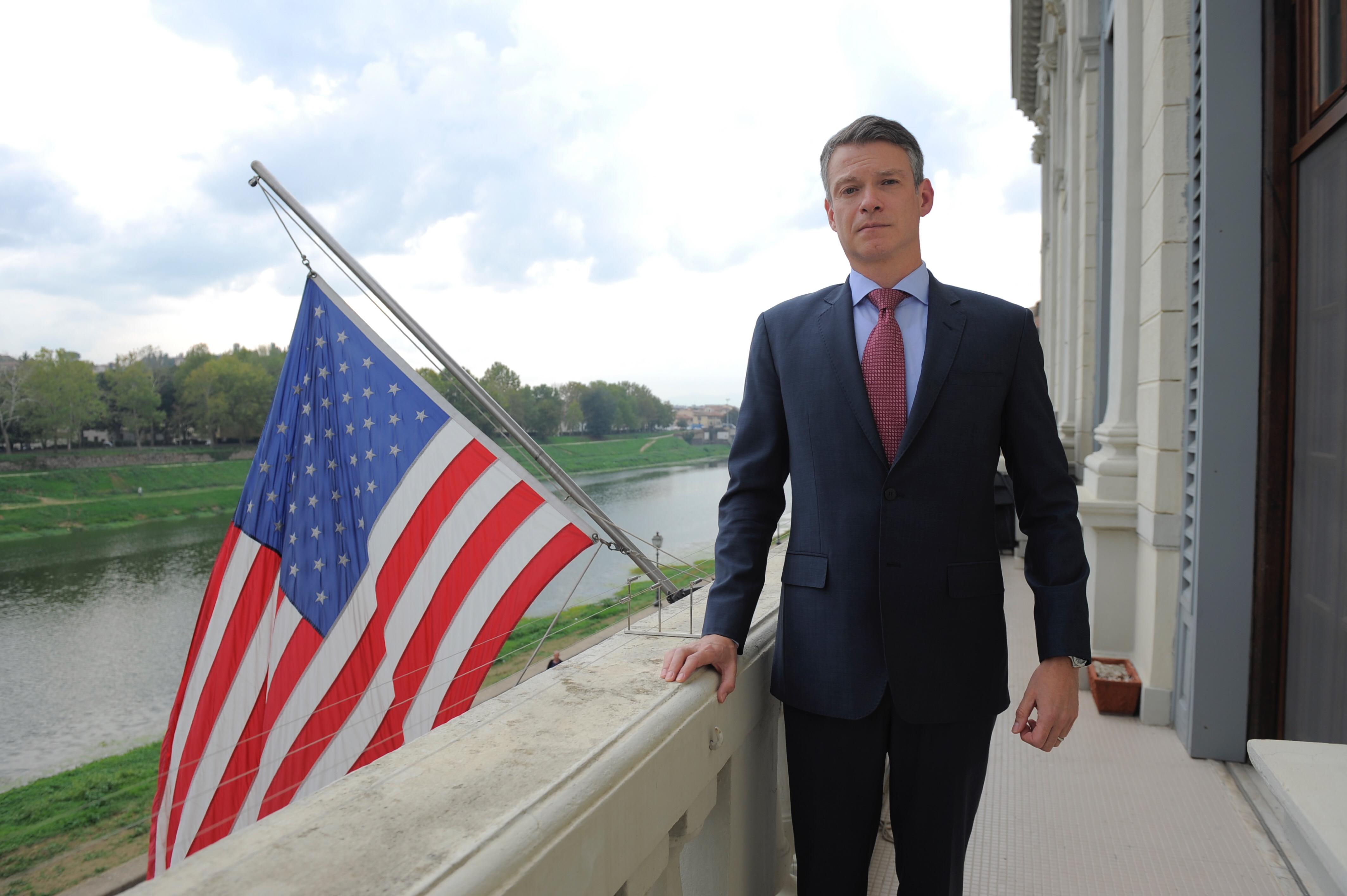 Console Usa in visita a Livorno