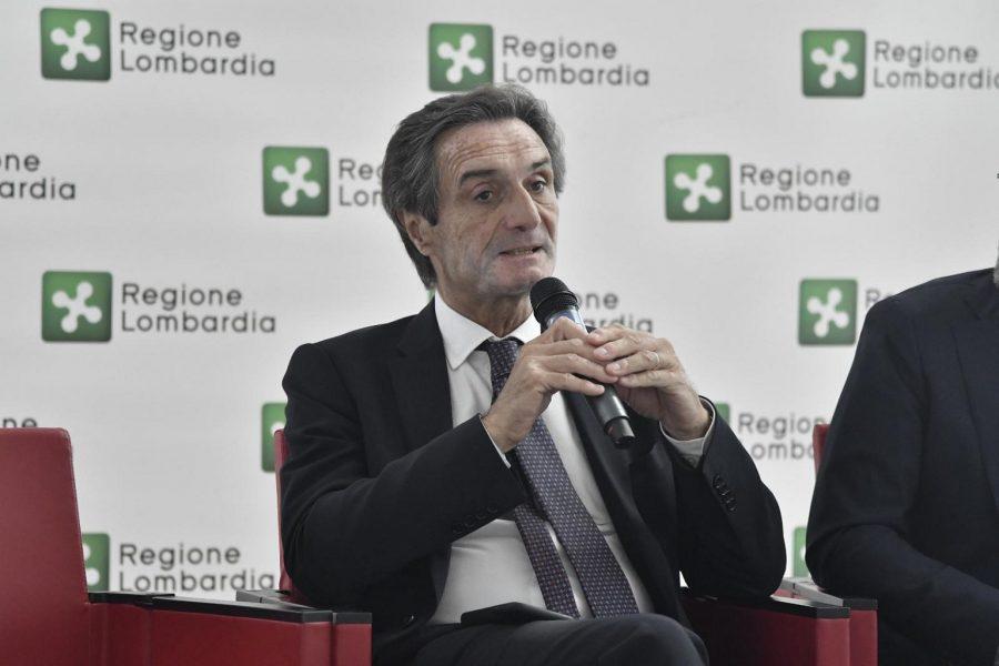 Fontana: con Confindustria scelte condivise per lo sviluppo futuro, primo piano del presidente Fontana lombardia