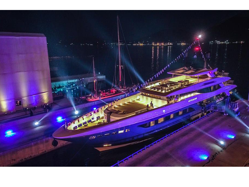 My Severin's, varato a La Spezia, la fotografia del nuovo yacht