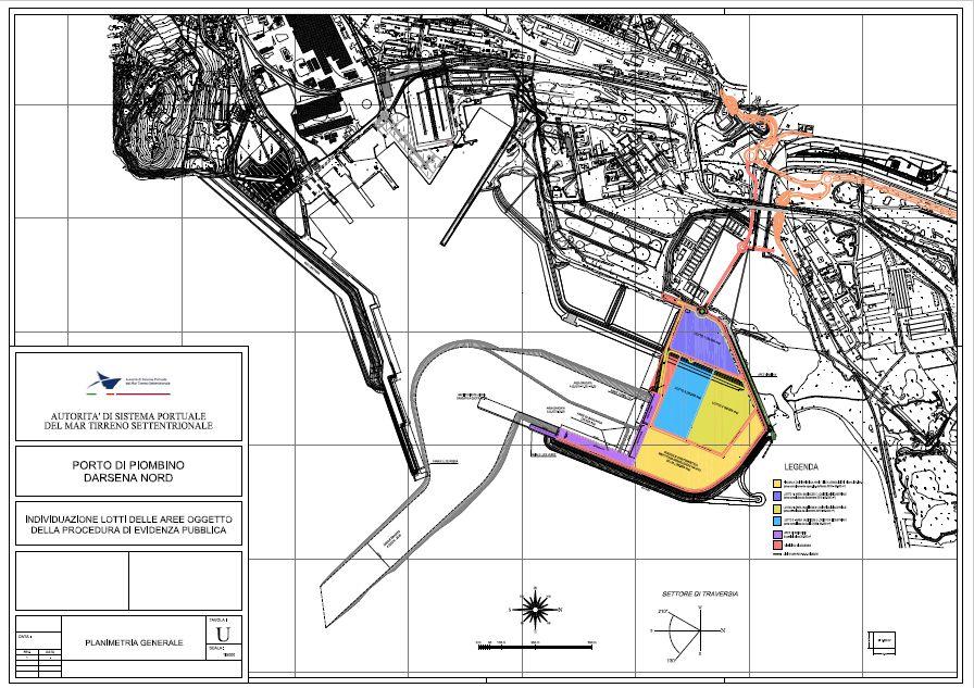 nuove aree del porto di piombino