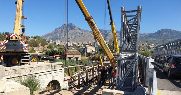 Termini Imerese: Ponte S. Leonardo prosegue ricostruzione, una fase di lavori