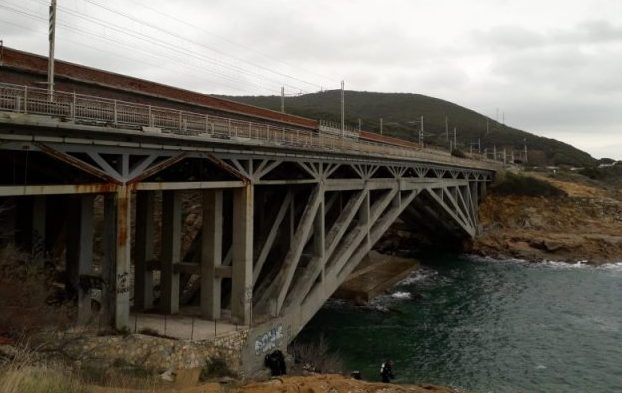 Ponte di Calafuria - Livorno la veduta del ponte
