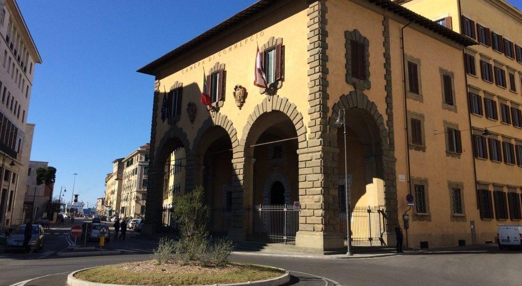 Progetto Passage: in Cciaa a Livorno - Facciata della Camera di Commercio.Immagine dell