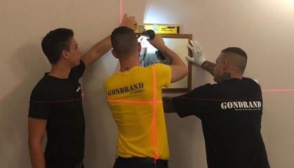 Gondrand by FERCAM allestisce mostra su Raffaello, alcuni momenti dell'allestimento.