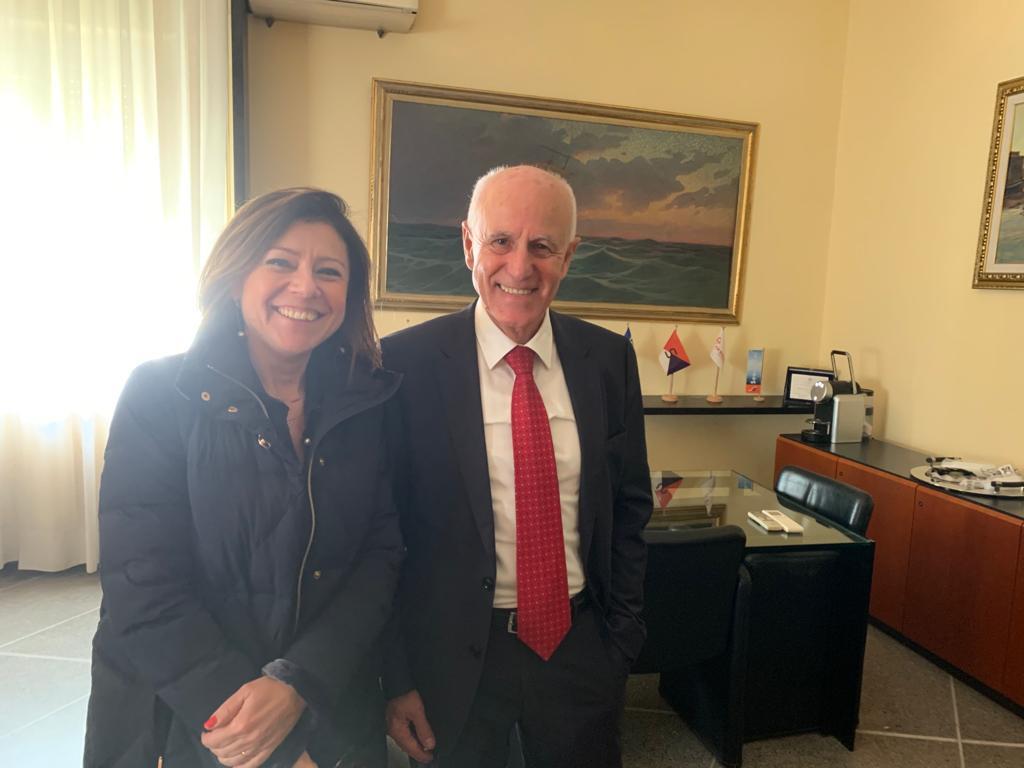 Il ministro De Micheli visita la Compagnia Portuale di Livorno