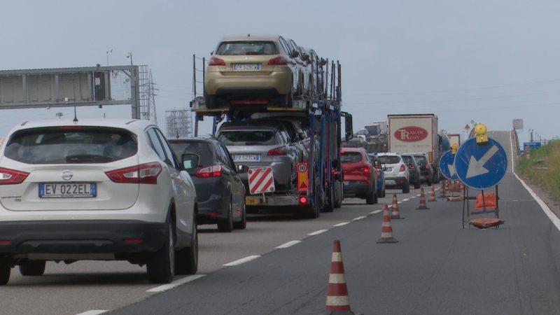 Fi-Pi-Li, iniziano i lavori sul viadotto del Turbone una foto del traffico sella superstrada