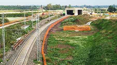 Raddoppio ferroviario Palermo-Catania, si accelera sull'iter, una foto dei lavori.